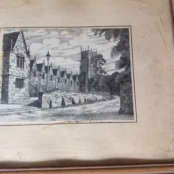 Vintage European Etching/Engraving