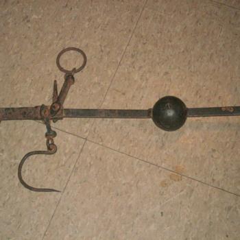 antique beam scale