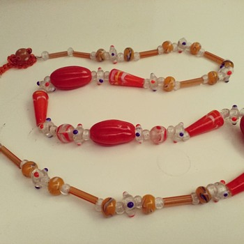 glass necklace - Costume Jewelry