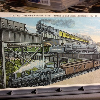 Train-cells-dented , new Tube needed - Postcards