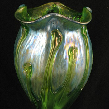 Loetz Creta Mit Behangen Vase, Circa 1900 - Art Glass