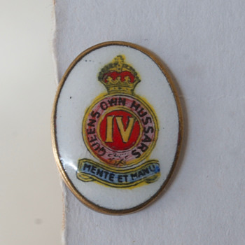 Queen's Own Hussars IV Lapel or Hat Clip - Military and Wartime