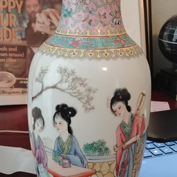 Antique Chinese Famille Rose Porcelain Vase - Asian