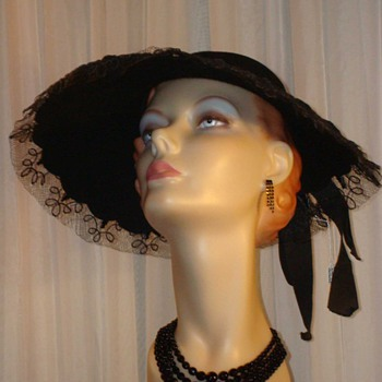 1950s Wool and Tulle Halston Halo Hat