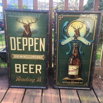 Deppen Beer Corner Signs - Breweriana