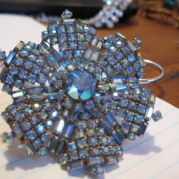 Blue Mist Brooch by SHERMAN  - Costume Jewelry