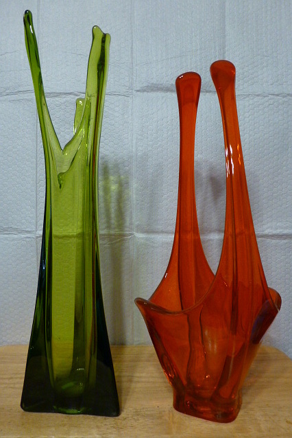 Viking Glass Swung Vases Collectors Weekly