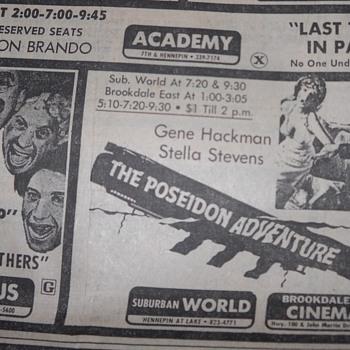 Movie Ads in Minneapolis Tribune - 1972 - Movies