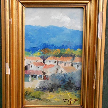 Impressionism Mountain Village Oil Painting  - Fine Art