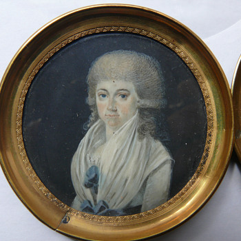 a matching pair of two miniatures - Fine Art