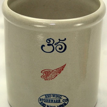 Limited Edition Red Wing Pottery 35 Gallon Crock Replica - Pottery