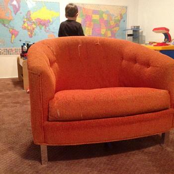 Love this orange chair - Mid-Century Modern