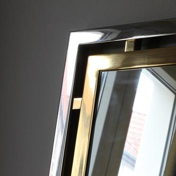 Hollywood Regency 1970s bicolor mirror / Guy Lefevre for Maison Jansen?  - Furniture