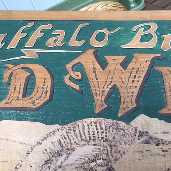 Buffalo Bills Wild West, American National Entertainment Wooden Carved  Sign - Signs