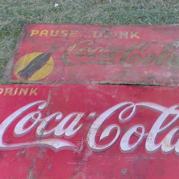 huge old coke signs - Coca-Cola