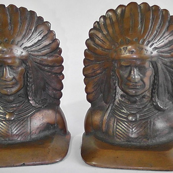 North American Indian Bookends - Books
