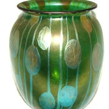 Streifen und Flecken Vase - Art Glass