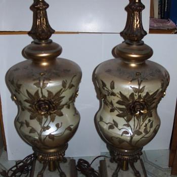 Glass & Brass Lamps
