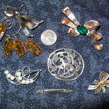 More Sterling Brooches Fresh From The Flea Market 5/25/2019 - Fine Jewelry