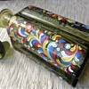 Glass Flask with plug, enamel, Alps region 18 or 19 century?