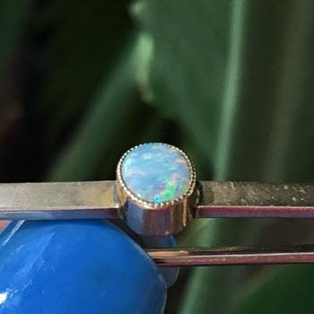 John Grinsell & Sons Gold Opal Tie Pin Brooch - Fine Jewelry