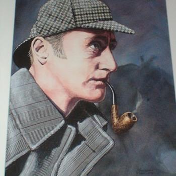 Painting Of Ron Howard As Sherlock Holmes Patrick Varriano 1999 - Fine Art