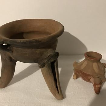 Costa Rican Rattle Vessel & Small Olla - Pottery