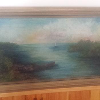 sailboat oil painting  - Fine Art