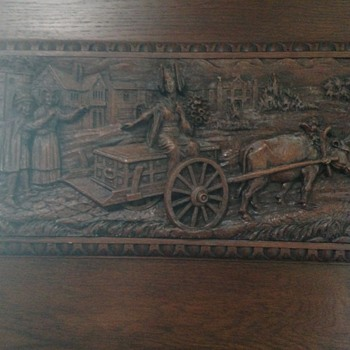 An antique wood carving in a friends house.  - Fine Art
