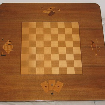 Maquetry Game Table - Games