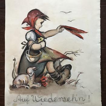 Berta Hummel Watercolor Paintings? - Figurines
