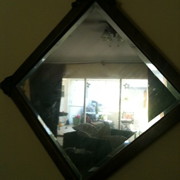 Please Help Antique Mirror Picked Wisconsin Farm Sale - Furniture