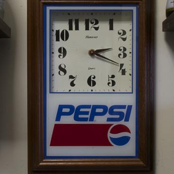 Pepsi and Pioneer Advertising Clocks….. - Clocks