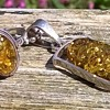 Sterling Silver & Spangle Amber Pendant/Ring, Flea Market Find $7.50