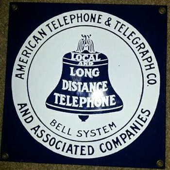 Fake ATAT sign 8X8 inch - Telephones