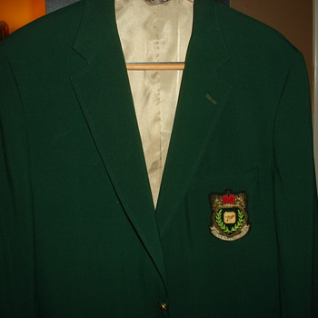 """GREEN GOLF CHAMPIONSHIP JACKET """"7UP""""  WHAT, WHERE AND WHEN? - Mens Clothing"""
