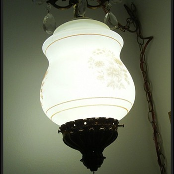 Vintage Chandlier Hanging Lamp/Light/Swag - Lamps