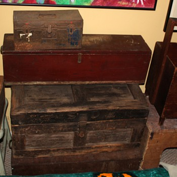 a few of my old boxes - collection - Furniture