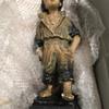 Strolling boy, plaster statue early 1900s?