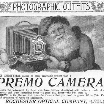 More Vintage Camera Ads With Santa - late 1890s - Cameras