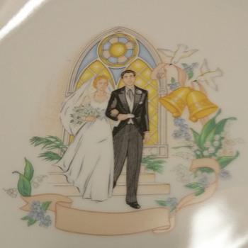 """Hand-painted Plate """"Wedding"""" - China and Dinnerware"""