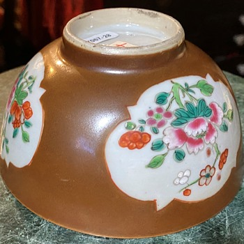 Large Teabowl - Chinese Qianlung - 18th c Cafe au lait - Batavian - Asian