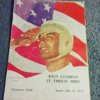 West Catholic (Burrs) vs.  St. Tommy More (Golden Bears) 1945 roster - Football