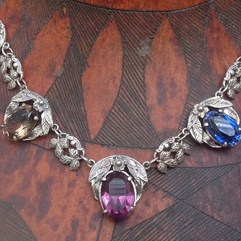 Bernard Instone silver and multi stone Necklace
