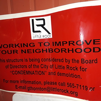 another red cardboard 'city sign' - Signs