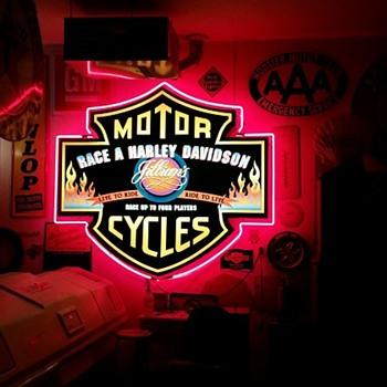 Vintage Harley Davidson Neon Sign - Signs