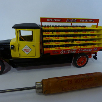 Danbury Mint 1927 Delivery truck ,and 1930's ice pick - Coca-Cola