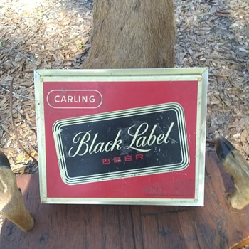 1960's Black label beer electric sign - Breweriana