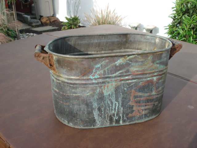 Old Copper Wash Tub Collectors Weekly