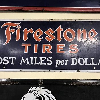 Firestone tire sign 3ft  - Signs
